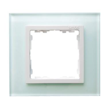 Ramka 1x szkło - natural / ramka pośrednia biała 82617-60