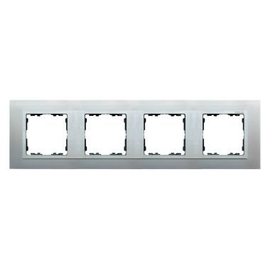 Ramka 4x aluminium / ramka pośrednia aluminium mat 82947-33