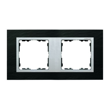 Ramka 2x łupek / ramka pośrednia aluminum mat 82927-63