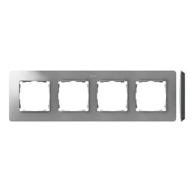 Ramka 4-krotna, Detail ORIGINAL-air, ALUMINIUM / podstawa Czarna 8200640-293