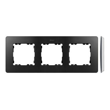 Ramka 3-krotna, Detail ORIGINAL-air, GRAFIT / podstawa Biała 8200630-038