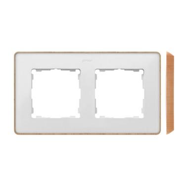 Ramka 2-krotna, Detail SELECT-drewno, BIAŁA / podstawa Drewno 8201620-270