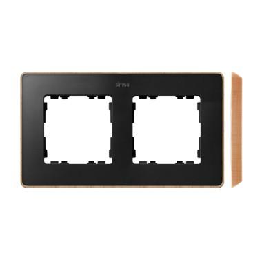 Ramka 2-krotna, Detail SELECT-drewno, GRAFIT / podstawa Drewno 8201620-271