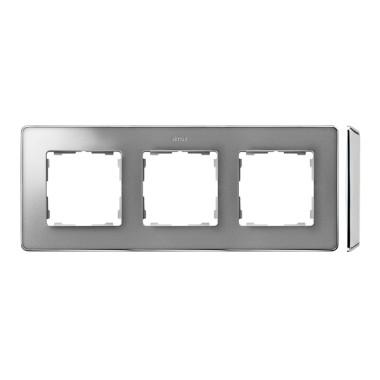 Ramka 3-krotna, Detail SELECT-metal, ALUMINIUM / podstawa Chrom 8201630-093