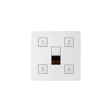 Pokrywa z 4-ma przyciskami do kontrolera scen świetlnych, biały 82048-30