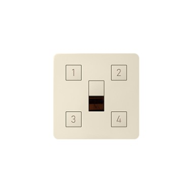 Pokrywa z 4-ma przyciskami do kontrolera scen świetlnych, kremowy 82048-31