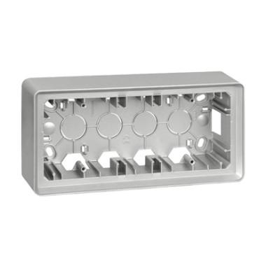 Puszka natynkowa 3-krotna, aluminium 8200770-093