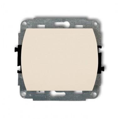 Mechanizm łącznika jednobiegunowego podświetlanego Karlik TREND 1WP-1L beżowy