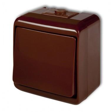 Mechanizm łącznika jednobiegunowego podświetlanego Karlik TREND 4WP-1L brązowy