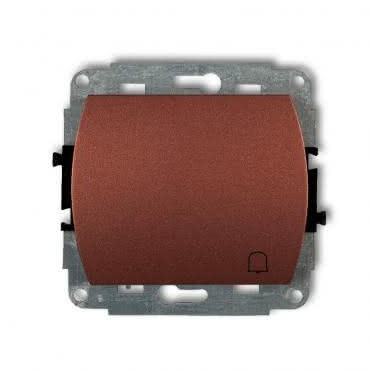 Mechanizm łącznika zwierny dzwonek podświetlanego Karlik TREND 4WP-4L brązowy