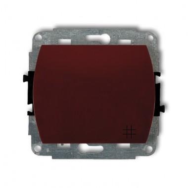 Mechanizm łącznika krzyżowego podświetlanego Karlik TREND 4WP-6L brązowy