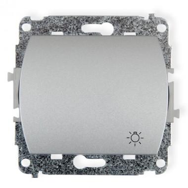 Mechanizm łącznika zwierny dzwonek podświetlanego Karlik TREND 5WP-4L srebrny