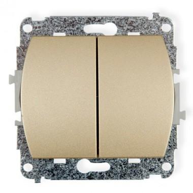 Mechanizm łącznika zwiernego, dwubiegunowego Karlik TREND 6WP-44.2 złoty