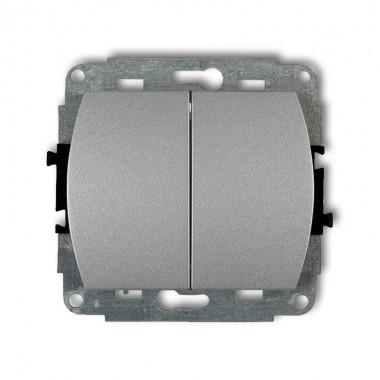 Mechanizm łącznika zwiernego, dwubiegunowego Karlik TREND 7WP-44.2 srebrny metalik