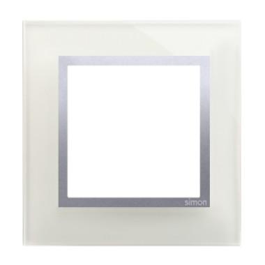 Ramka pojedyncza SIMON 54 NATURE szklana - srebrna mgła DRN1/71