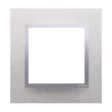 Ramka pojedyncza SIMON 54 NATURE metalowa - inox klasyczny DRN1/77