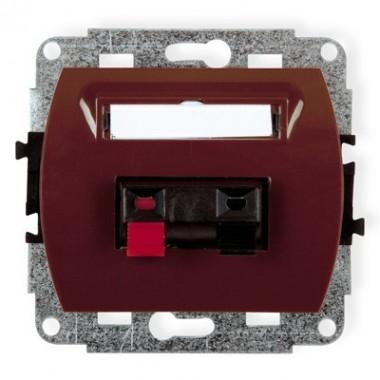 Mechanizm gniazda głośnikowego pojedynczego Karlik TREND 4GG-1 brązowy