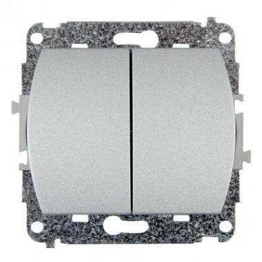 Mechanizm łącznika zwiernego, świecznikowego Karlik TREND 7WP-44.1 srebrny metalik