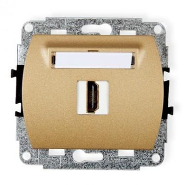 Mechanizm gniazda pojedynczego HDMI Karlik TREND 8HDMI-1 złoty metalik