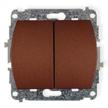 Mechanizm łącznika zwiernego, świecznikowego Karlik TREND 9WP-44.1 brązowy metalik