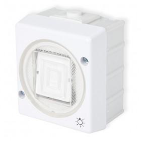 Łącznik zwierny światło Karlik SENIOR WHS-5 biały